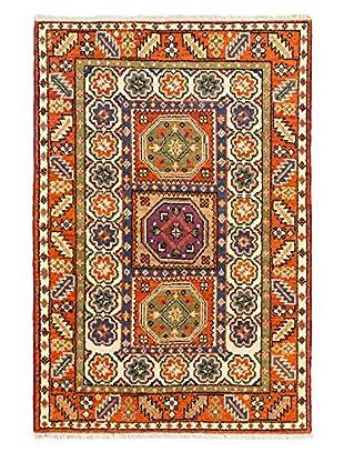 Hand-Knotted Royal Kazak Rug, Dark Orange, 4' x 6'