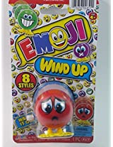 "Emoji 3"" Wind Up Toy Red Worried Look Face Figure"