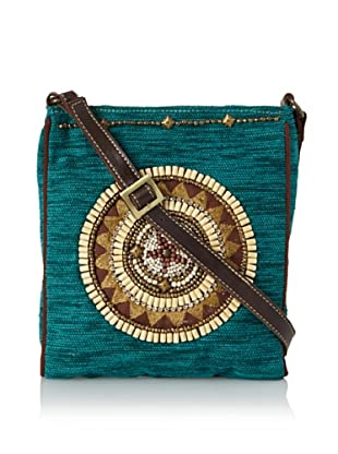 Mare Sole Amore Women's Medallion Cross-Body (Turquoise)