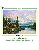 Ceaco 3310-40 Thomas Kinkade - Cathedral Mountain Lodge Puzzle - 1000 Pieces