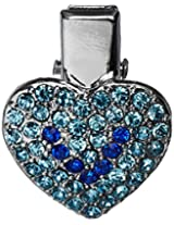 Mirage Pet Products Heart Clip for Pets, Blue