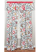 Trend Lab Waverly Floral Pom Pom Play Window Drape
