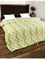 Lovely Hand Block Printed Cotton Duvet Cover Double White Floral By Rajrang