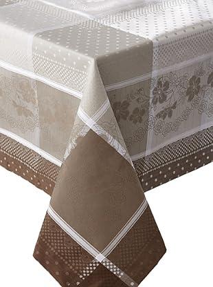 Garnier-Thiebaut Roses Anciennes Tablecloth (Ficelle)