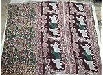 Multi Kalamkari Cotton Saree With blouse piece