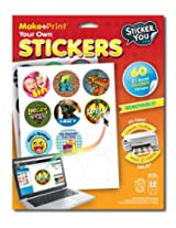 StickerYou MakePrint Round 2.25 Glossy Stickers (Pack of 60 stickers)