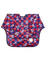 Bumkins Disney Baby Waterproof Sleeved Bib, Mickey Mouse Checkered (6-24 Months)
