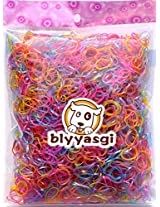 1 Bag Tpu Girl Kids Hair Hold Band Elastic Rubber Bands Pearl Color