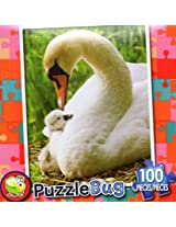 Puzzle Bug 100 Piece Puzzle ~ Mother Swan And Baby