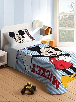 Disney Home Set Letto Mickey Mouse (Celeste/Rosso/Bianco)