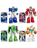 """Playskool Transformers Rescue Bots 12"""" Figure Set Of 4 Chase, Heatwave, Boulder & Blades"""