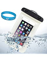 Sumaccn Underwater Waterproof Case Bag Pouch With Removable Armband For iPhone 6 / Motorola Moto X - 2nd Generation / Motorola DROID Turbo / Sony Xperia Z3v + SumacLife TM Wisdom Courage (White)