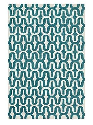 Loloi Rugs Weston Rug, Ivory/Teal, 3' 6