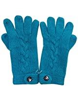 Graceway Unisex Cable Gloves (5G10, Sky Blue)