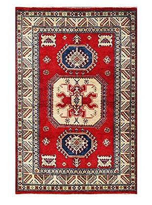 Bashian Hand Knotted Pak Kazak Rug, Red, 4' X 6'