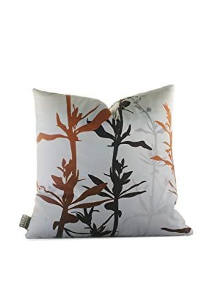 Inhabit Wildflower Pillow (Silver/Rust)