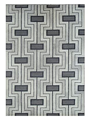 Mili Designs NYC Gray Geo Rug, 5' x 8'