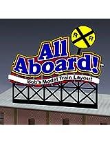 88 1851 Lg All Aboard Model Rr Billboard By Miller Signs