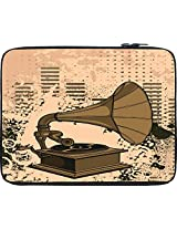 """Snoogg Gramophone Music 17"""" inch to 17.5"""" inch to 17.6"""" inch Laptop netbook notebook Slipcase sleeve Soft case cover bag notebook / netbook / ultrabook carrying case for Macbook Pro Acer Asus Dell Hp Sony Toshiba"""