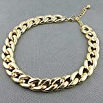 Golden colored choker necklace