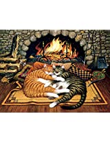 Buffalo Games Charles Wysocki Cats: All Burned Out 750 Piece Jigsaw Puzzle by Buffalo Games