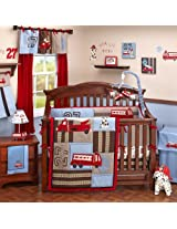 Engine 27 9 Piece Baby Crib Bedding Set with Bumper by Nojo