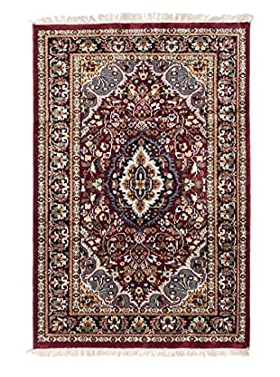 eCarpet Gallery One-of-a-Kind Hand-Knotted Kashmir Rug, Dark Red, 3' 11
