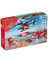 BanBao Fire Fighting Building Set, 110-Piece