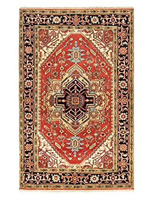 Hand-Knotted Serapi Heritage Wool Rug, Dark Copper, 5' 2