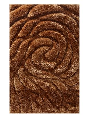 Manhattan Design District Wool Blend Luxury Shag (Brown)