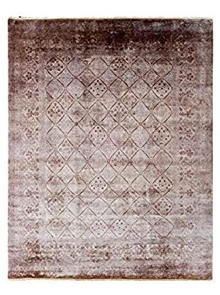 nuLOOM One-of-a-Kind Hand-Knotted Vintage Overdyed Area Rug, Walnut, 7' 11