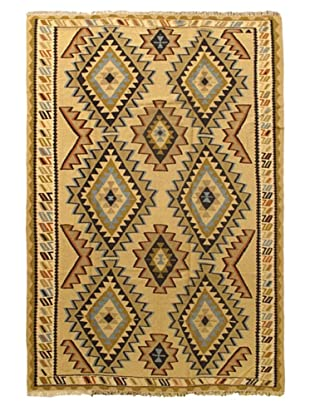 Ankara Kilim Tribal Kilim, Light Yellow, 6' 2