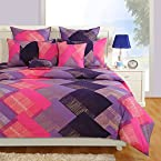 Signature Collection Purple And Pink Bed Sheet Set from Swayam