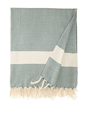 Nine Space Diamond Throw, Olive