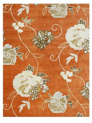 Horizon Floral Bouquet Rug (Orange/Gold/Brown)