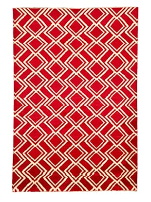 Azra Imports Vogue Rug, Red/Ivory, 5' 3