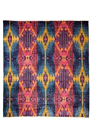 Darya Rugs Ikat Oriental Rug, Blue, 7' 10