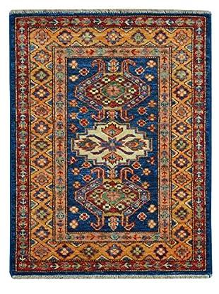 Kalaty One-of-a-Kind Kazak Rug, Blue/Multi, 2' x 2' 10