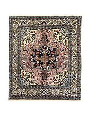 L'Eden del Tappeto Teppich Ardebil Tocco Seta rot/blau/mehrfarbig 188t x t216 cm
