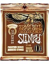 Ernie Ball Coated Slinky Phosphor Bronze Acoustic Strings Medium Light
