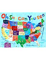 Oopsy Daisy Canvas Wall Murals Oh Say Can You See by Jill McDonald, 42 by 32-Inch
