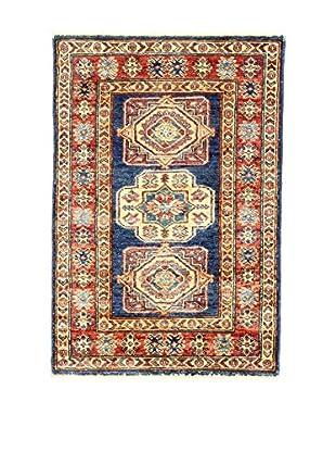 L'EDEN DEL TAPPETO Alfombra Kazak Super Rojo/Multicolor 59 x 87 cm