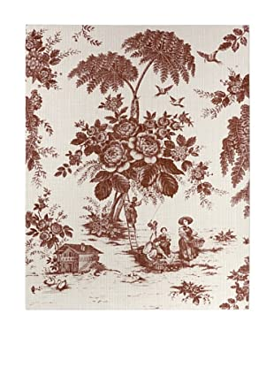 French Linen Collection Red Toile Tapestry