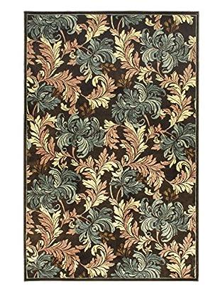 Botanical Garden Rug, Cream/Dark Brown, 4' 11
