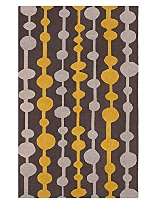 Dalyn Tones Geometric Wool Rug, Carbon (Carbon)