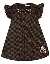 Oye Aop Baloon Dress - Coffee Brown (2-3 Years)