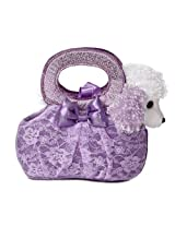 Aurora World Fancy Pals Plush Toy Pet Carrier, Lavender Lacey