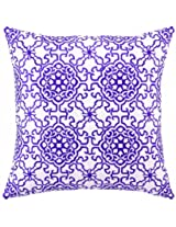 Peking Handicraft 18 by 18-Inch Down-Filled Pillow, Seville, Lilac