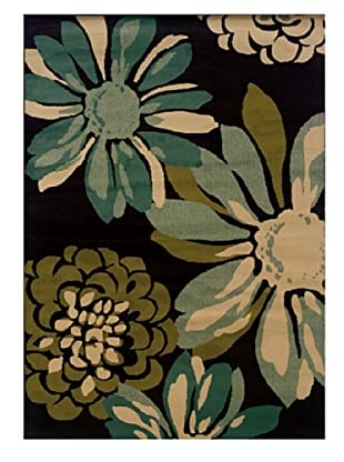 Granville Rugs Aiden Rug (Black/Beige/Blue/Green)