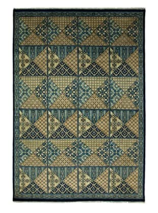 Darya Rugs Traditional Oriental Rug, Navy, 5' 10